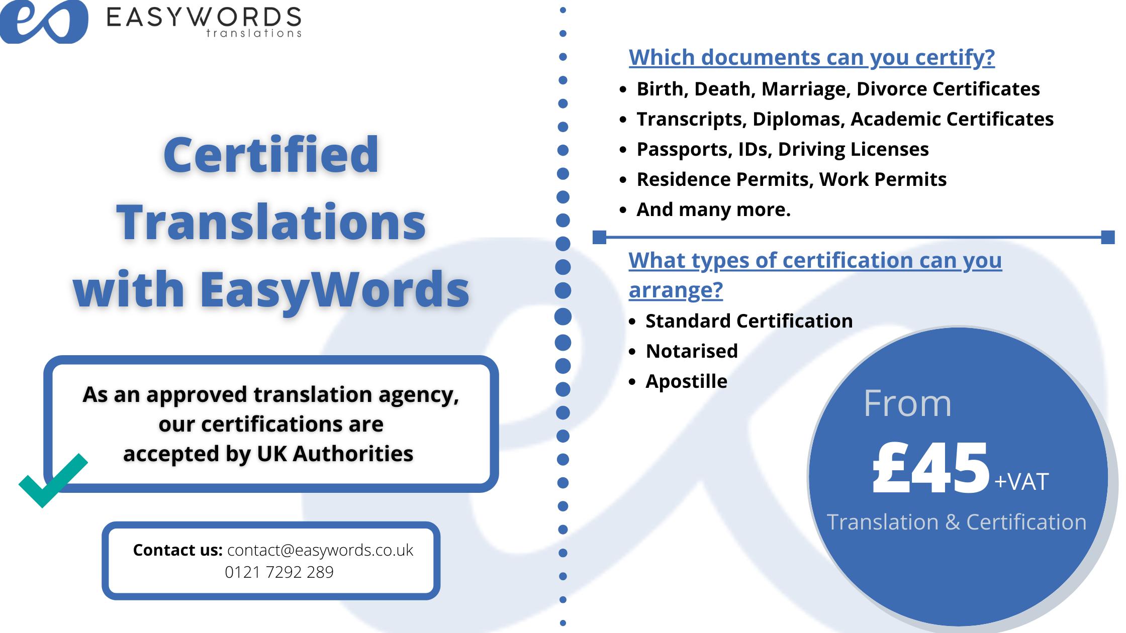 Certified Translations Banner