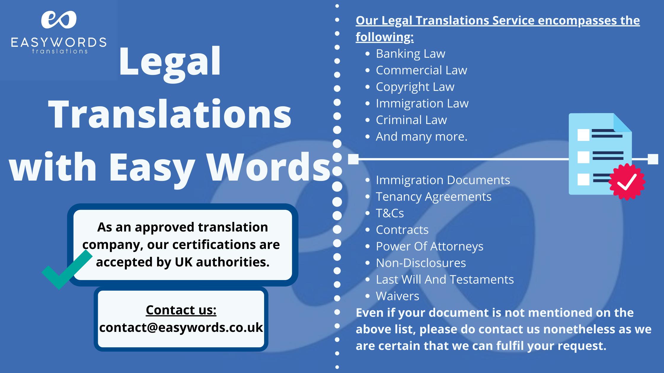 Legal Translations Banner